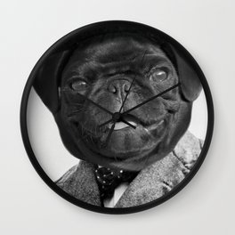 Sir Winston Pug Churchill Wall Clock