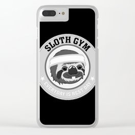Sloth Gym Clear iPhone Case