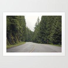 lonely road. Art Print