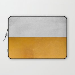 Wabi Sabi - Gold and Grey Texture Laptop Sleeve