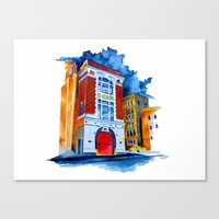 ghost busters Canvas Prints featuring ghost busters garage by Jonny Moochie