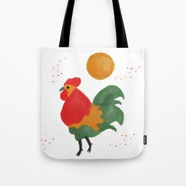 Celebratory Rooster Tote Bag