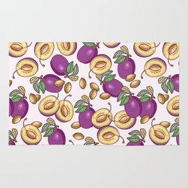 Romantic plum pattern Rug