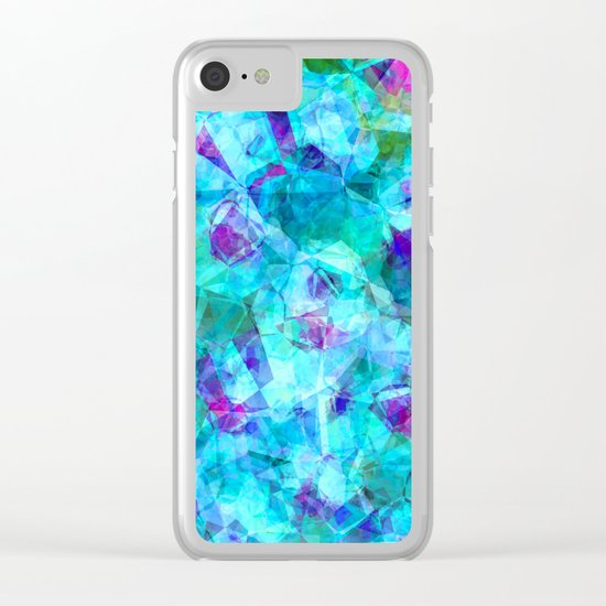 Water blue triangles-abstract pattern Clear iPhone Case