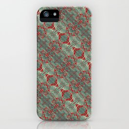 Autumn Green & Red iPhone Case