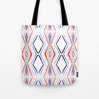 aqua Tote Bags featuring Aqua by FakeFred