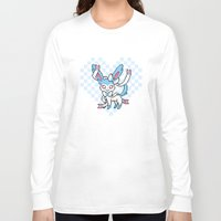 sylveon Long Sleeve T-shirts featuring 8-Bit Shiny Sylveon (Textless) by einjelato