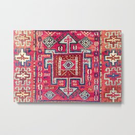 Malatya  Antique Kurdish Turkish Rug Metal Print