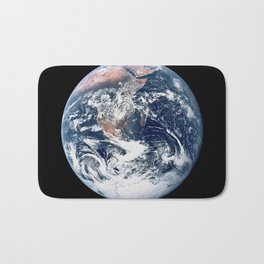Apollo 17 - Iconic Blue Marble Photograph Bath Mat