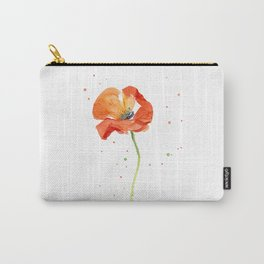 Red Poppy Painting Watercolor Carry-All Pouch