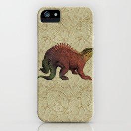 Rust & Khaki Hylaeosaurus Dinosaur iPhone Case