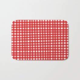 Red Gingham Bath Mat