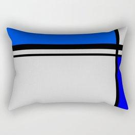 Cross Lines in blues Rectangular Pillow
