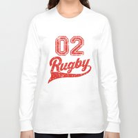 rugby Long Sleeve T-shirts featuring RUGBY by solomnikov
