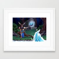 arya Framed Art Prints featuring Guardian of The Forest by Sara Poveda