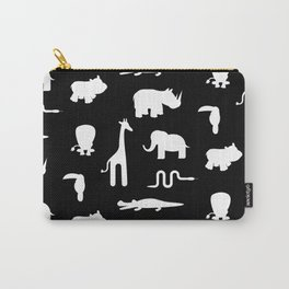 Exotic white animals pattern Carry-All Pouch