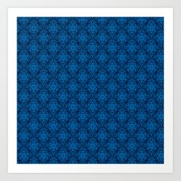 Metatron's Cube Damask Pattern Art Print