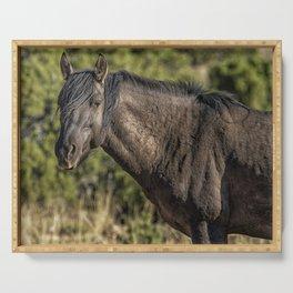 Garcia No. 2-Pryor Mustangs Serving Tray