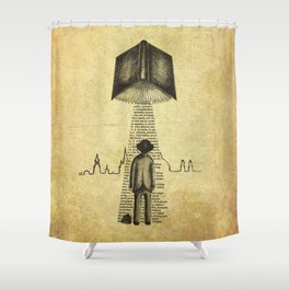 Take Me To Your Reader Shower Curtain