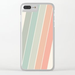 Trippin' - retro 70s socal minimal striped abstract art california surfing vintage Clear iPhone Case