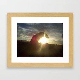 my hand Framed Art Print