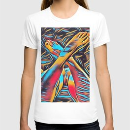 3766s-BH Abstract Leg Arch Vulva Art Feet Up Rendered Abstract by Chris Maher T-shirt