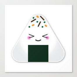 Happy onigiri Canvas Print