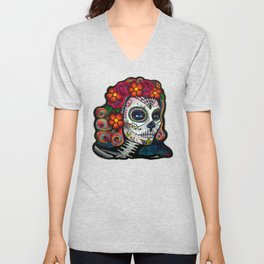 Sugar Skull Candy Unisex V-Neck