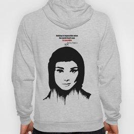 Audrey Hepburn art design ( black and white)  Hoody
