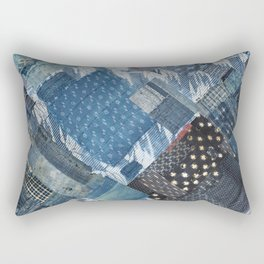 Antique Japanese boro jeans patchwork Rectangular Pillow