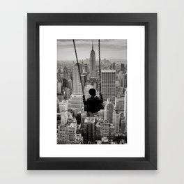 Playground Swings by GEN Z Framed Art Print