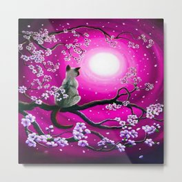MOONLIGHT-PINK Metal Print
