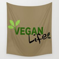 vegan Wall Tapestries featuring Vegan Life by UMe Images