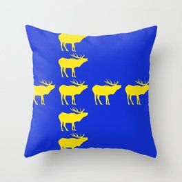 Graphic Swedish Elk Flag III Throw Pillow