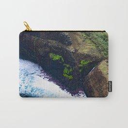Coastal Cliffs Hawaiian Tropical Beach Carry-All Pouch