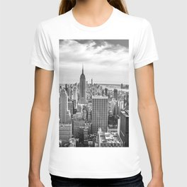 New York City Cityscape (Black and White) T-shirt