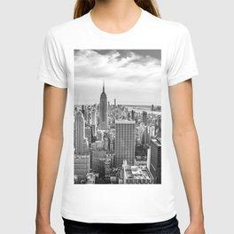 New York City Cityscape (Black and White) T-shirt