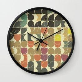 Abstract Geometric Artwork 08 Wall Clock
