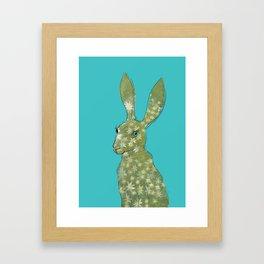 Esmeralda Hare with daisies Framed Art Print