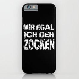 I Don't Care I Gamble Gamer Gift Motif iPhone Case