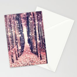 Millennial Pink Magical Forest Stationery Cards