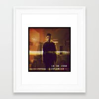 michael myers Framed Art Prints featuring Michael Myers VCR by Cinemamind