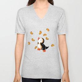 Macaroni Penguin Unisex V-Neck