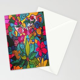 Flower doodles Stationery Cards