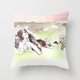 When Sand Trooper meet the Dog Throw Pillow