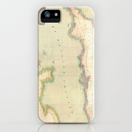 Vintage Map of The English Channel (1814) iPhone Case
