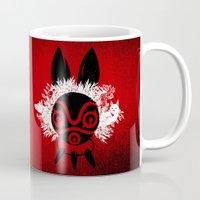 mononoke Mugs featuring MONONOKE by kravic