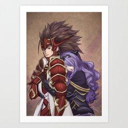 Embrace To Unite Kingdoms Art Print