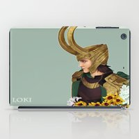 loki iPad Cases featuring Loki by tsunami-sand