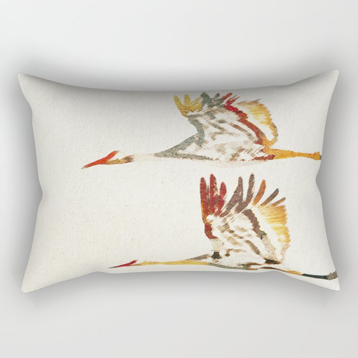 Due Uccelli Rectangular Pillow